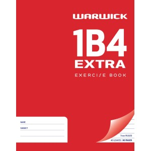 Warwick Exercise Book 1B4 40 Leaf Extra Ruled 7mm 230x180mm