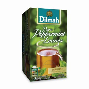 Dilmah Pure Peppermint Peppermint Leaves Foil Enveloped Caffeine Free Tagged Teabags 20s