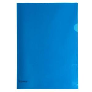 Esselte L-Shape Pocket Heavy Duty Blue Pkt12