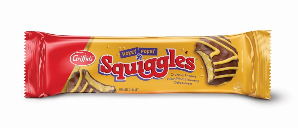 Griffins Hokey Pokey Squiggles Biscuits 215g