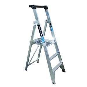 3 Step Platform Ladder with Spring Loaded Castors