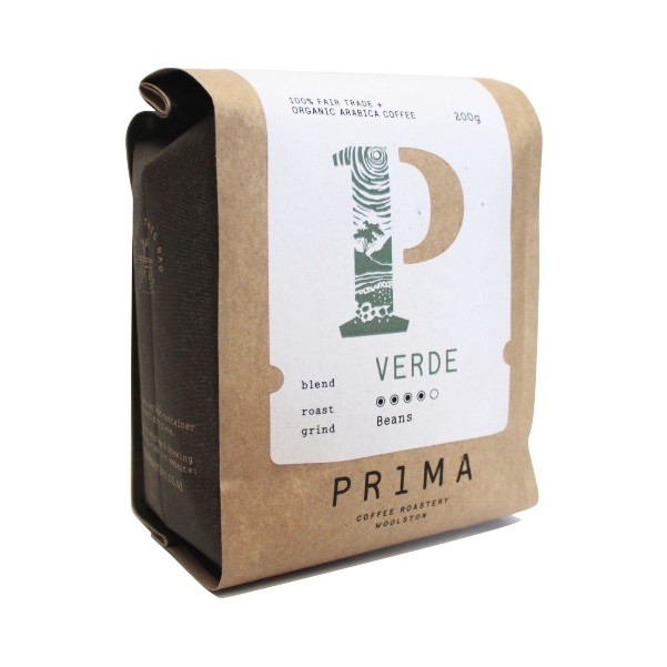 Prima Fairtrade Organic Verde Fresh Ground Coffee 200g