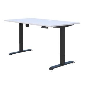 Duo II Electric Desk 1200L x 700D Snowdrift Top with Black Frame - Height Adjust