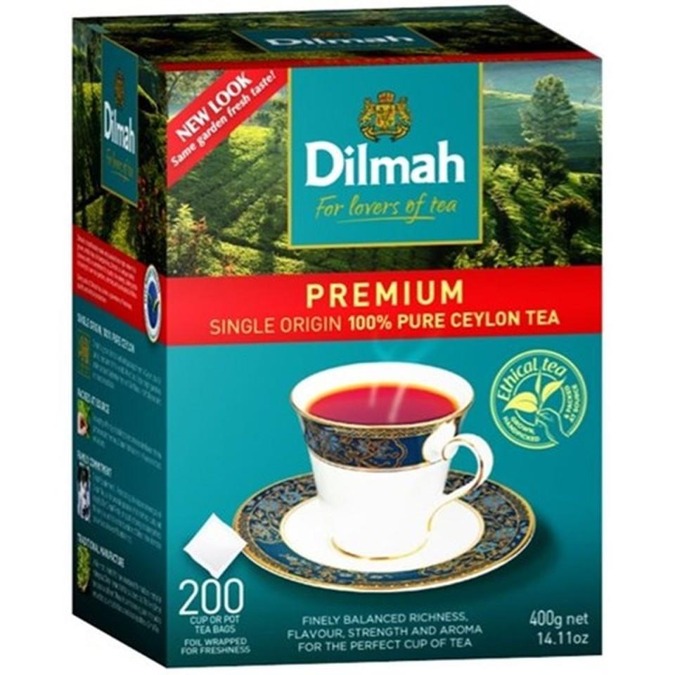 Dilmah Premium Tagless Black Tea Bags Box 200