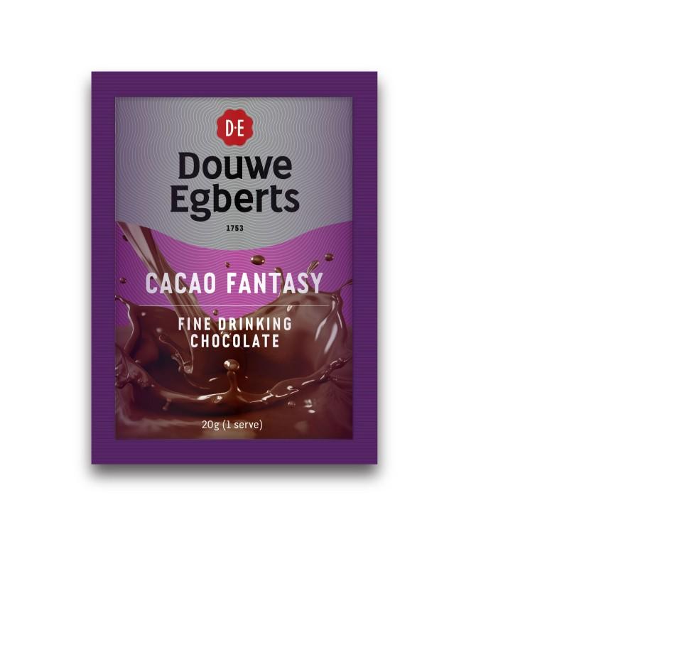 DE Cacao Fantasy Fine Drinking Chocolate 20g Sachets Carton 100