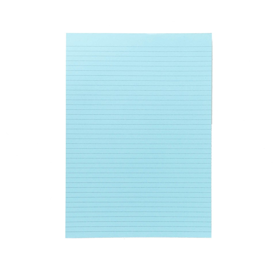 NXP Topless Writing Pad A4 Ruled Blue