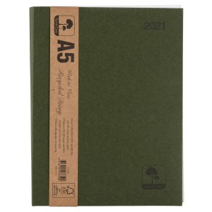 Earthcare 2021 Recycled Diary A5 Week To View Wiro