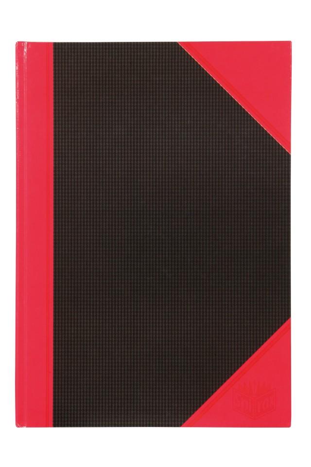 Spirax Black & Red Casebound Notebook A4