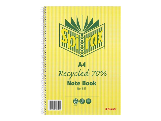 Spirax 811 A4 240 Page Recycled Notebook