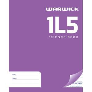 Warwick Exercise Book 1L5 36 Leaf Ruled 7mm Unruled 255x205mm