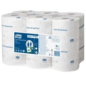 Tork 472193 Smartone Mini Toilet Roll T9 2 Ply 620 Sheets Ctn 12