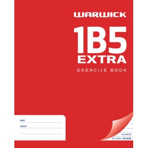 Warwick Exercise Book 1B5 50 Leaf 25% Extra Ruled 7mm 255x205mm