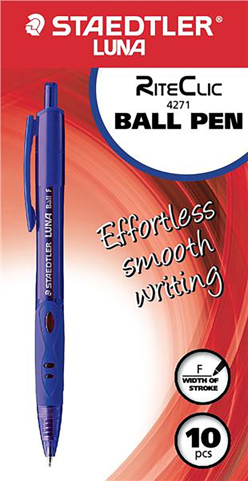 Staedtler Pen Luna Riteclic 0.7mm Blue Each