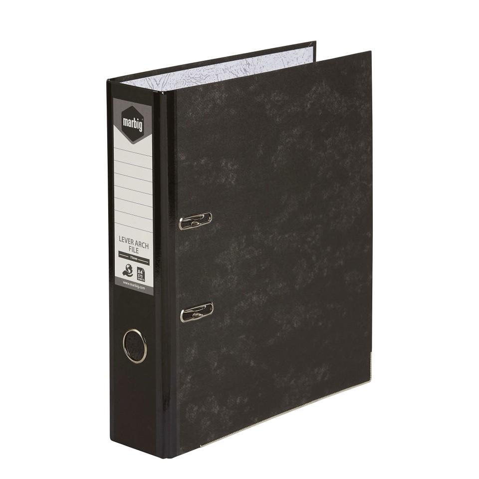 Marbig Lever Arch File A4 Mottle Black