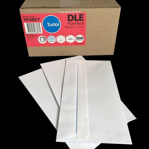 Tudor Banker Envelope Self Seal 6112 DLE 114mm x 225mm White Box of 500
