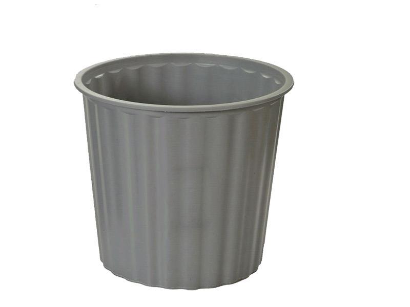 Gbp 30cm Diameter Plastic Rubbish Bin Grey