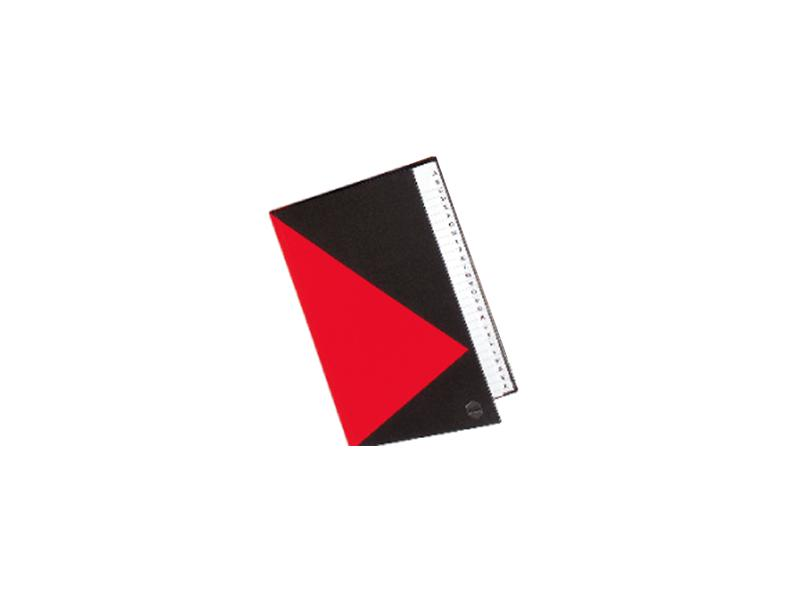 A5 200 Page Indexed Hard Cover Notebook Red And Black